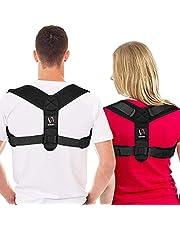 [Latest Model] Schiara Posture Corrector for Men and Women - Comfortable Upper Back Brace, Adjustable Back Straightener Support for Neck, Back & Shoulder