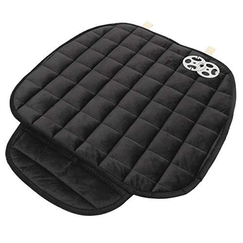 Universal Square Wistiti Sponge Front Row Car Seat Cover Small Mat Auto Chair Cushion - Interior Accessories Car Cushions - (Black) - 1x Front Row Car Seat Cover