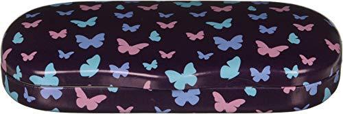 Eyeglass Butterflies Case (Hard Shell Eyeglass Case Clamshell For Boy Girl Small Frames, Reading Glasses – Butterfly)