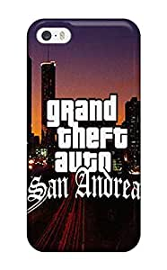 New Style Tpu 5/5s Protective Case Cover/ Iphone Case - Grand Theft Auto San Andreas Poster