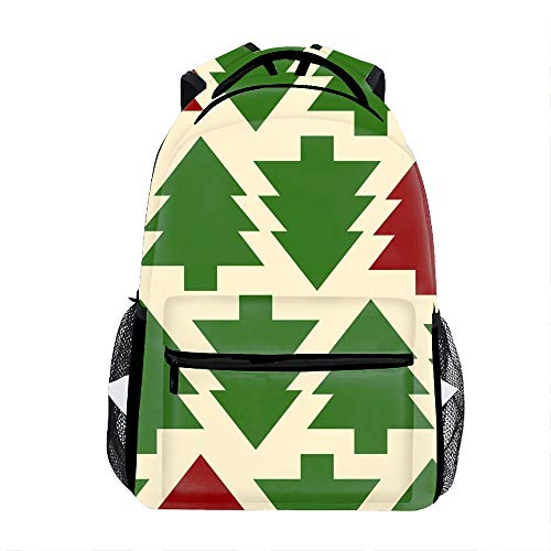 - Christmas Tree Pattern School Backpack for Girl/Boys Lightweight Travel Backpack