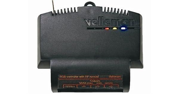 9 Amp 3.15 L x 2.75 W x 0.9 H 12V Velleman VM161 LED Strip Color Dimmer Receiver for VM118R RF Remote Transmitter