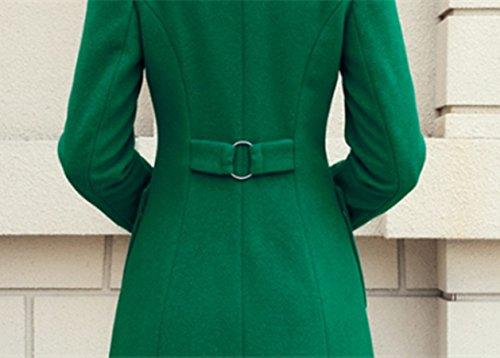 Amazon.com: Women long Trench Coat Woolen coat Single Breasted Walker: Clothing