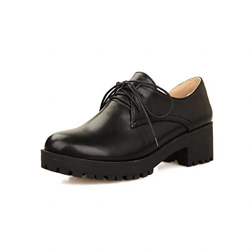 ea220f8934b 80%OFF Show Shine Women s Fashion Lace up Platform Mid Chunky Heel Oxfords  Shoes