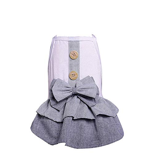 Pet Clothes,Spring Summer British Button Skirt Dress Dog Costumes Pet Clothes Funny Summer Fashion Dog Coat,Skirt for Dog,Pet Cat Dog Costumes Princess Dress ()