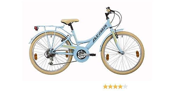 Bicicleta de niña Atala Toscana, 6 velocidades, color azul claro ...