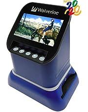 "$159 » Wolverine F2D Saturn Digital Film & Slide Scanner - Converts 120 Medium Format, 127 Film, Microfiche, 35mm Negatives & Slides to Digital JPEG - Large 4.3"" LCD w/HDMI Output (Blue)"