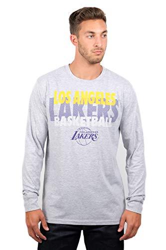 - UNK NBA Adult Men T Supreme Long Sleeve Pullover Tee Shirt, Gray, Medium