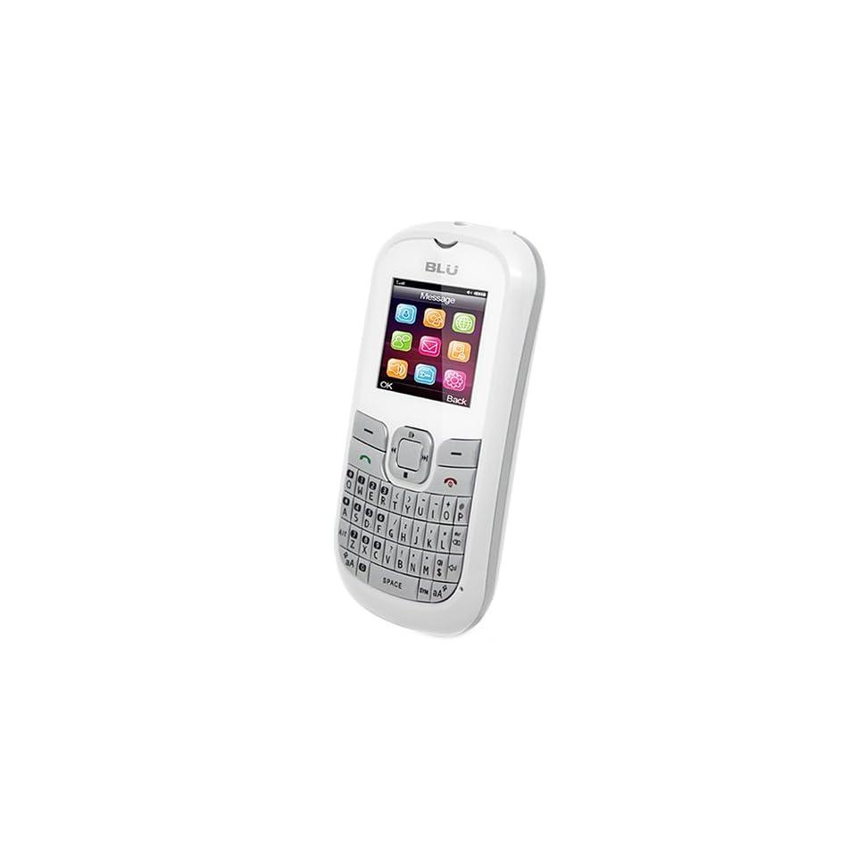 BLU Q160P Deejay II   Unlocked Phone   US Warranty   White/Silver