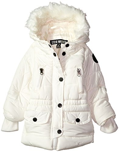Steve Madden Baby Girls' Fashion Outerwear Jacket (More Styles Available), 8039-Cream, 24M