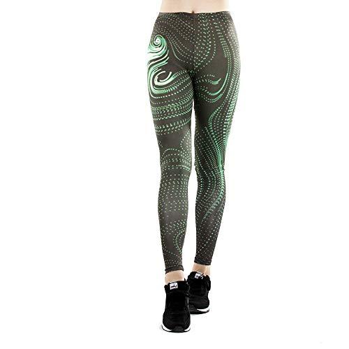 GYXYYF Gezeiten Marke Frauen Digitaldruck Sporthosen Gezeiten Marke Stretch Dünne Fitness