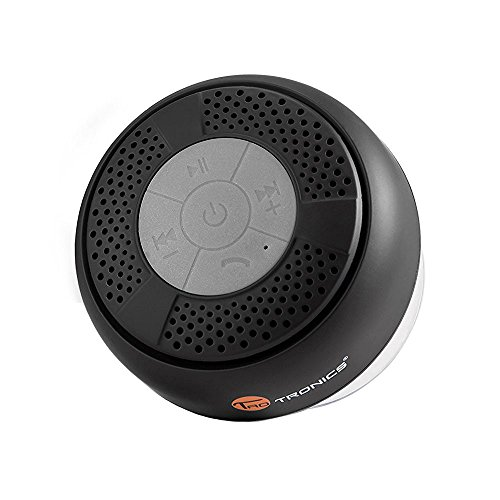 TaoTronics mini portable Bluetooth Lautsprecher tragbarer waterproof wireless Speaker Wasserdicht mit Saugnapf (3,0 Freisprecheinrichtung, integriertes Mikrofon, A2DP/AVRCP)