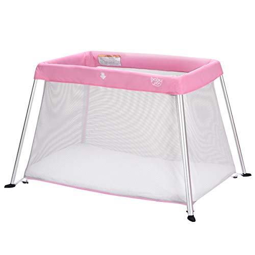 - Liberory Baby Playpen Portable Play Yard Travel Light Play Pen for Baby Fun Sport Take-and-Go Parent-Child Interaction Kids Indoors/Outdoors Play Yard in Pink