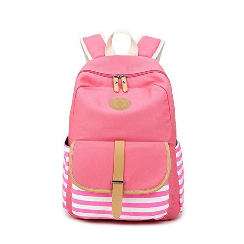 Pink Bagpack Canapa VHVCX Zaini Femminile Ragazza Tela Donne Mochila Bag Femminile Scuola Righe Feminina Per Zaino Della Ragazze Della Di Zaino Dello Teen Adolescenti A vvRnqrwSxd
