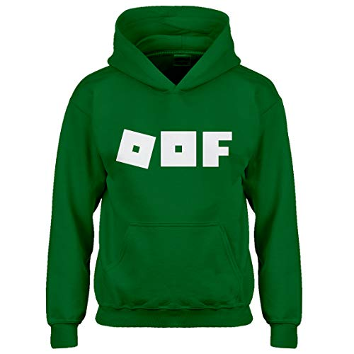 (Indica Plateau Kids Hoodie Oof Youth M - (8-10) Kelly Green)