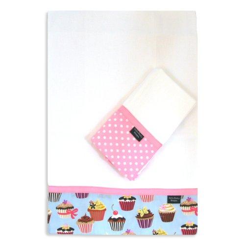 Cupcake Burp Cloth Set by Lucky Ducky Designs
