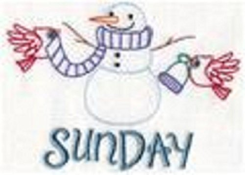 Snowman Days of the Week Flour Sack Towels by Forget Me Knot Embroidery
