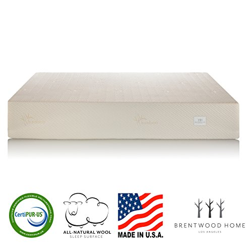 Brentwood Home Bamboo Gel 11 Memory Foam Mattress, Made in California, Queen