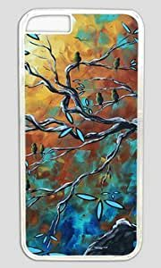 Bird Art Painting DIY Hard Shell Transparent Case Cover For Apple Iphone 4/4S On Custom Service