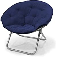 Urban Shop Microsuede Saucer Chair, Navy