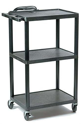 HamiltonBuhl Plastic AV Cart Adjustable from 16'' to 42'' by Hamilton Buhl