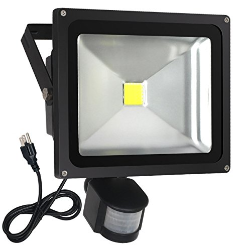 FAISHILAN Motion Sensor Flood Light 30W LED IP65 Waterproof Security Lights 6000K, 2400 Lumen, US 3-Plug Outdoor Wall Light