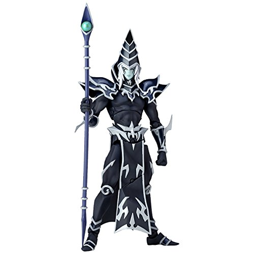 Japan Official Yu-Gi-Oh! Movie: The Dark Side of Dimensions Revoltech Dark Magician Complete Scale Action Character Model Figure Revo Vulcanlog Wizard Magic Staff 010 Union Creative (Action Figure Wizard)