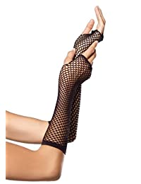 Leg Avenue womens Triangle Net Fingerless Gloves Exotic Apparel Accessory