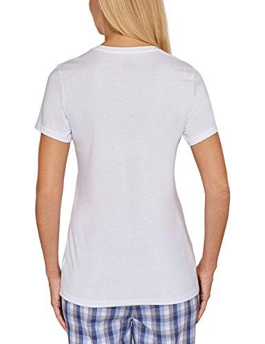 Schiesser Mix & Relax Shirt 1/2 Arm - Top de pijama Mujer blanco (weiss 100)