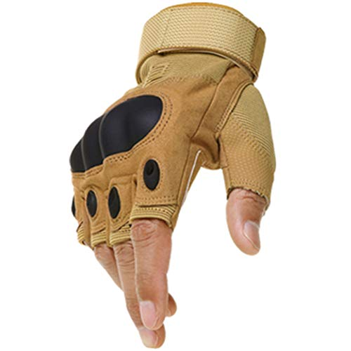 Wareken Army Bicycle Tactical Gloves Military Paintball Airsoft Work Snowboard Shooting Fingerless Hard Carbon Knuckle Half Finger Gear