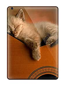 Alex Ipad Air Well-designed Hard Case Cover Kitten On Guitar Protector