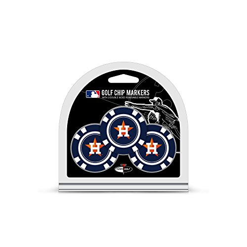Team Golf MLB Golf Chip Ball Markers (3 Count), Poker Chip Size with Pop Out Smaller Double-Sided Enamel ()