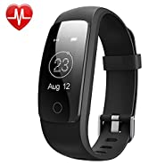 Willful Fitness Tracker, SW331 Fitness Watch Waterproof Pedometer Activity Tracker with Heart Rate Monitor Multiple Sports Mode Sleep Monitor Step Counter Calorie Stop Watch Alarms for Men Women Kids