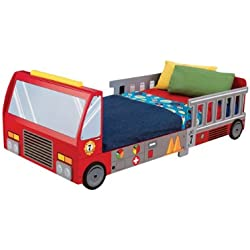 KidKraft Fire Truck Junior Toddler Bed