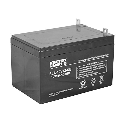 12 Volt, 12 Ah Sealed Lead Acid Battery with Nut and Bolt Terminal