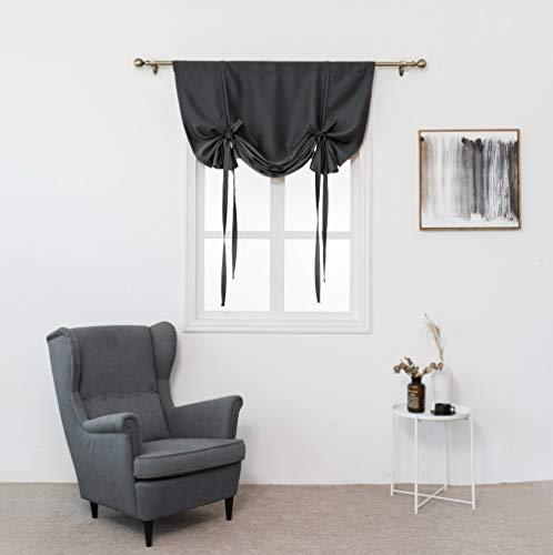Gotian 1 Panel Tie Up Roman Curtain, Thermal