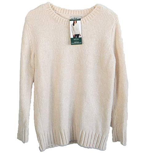Orvis Chenille - Orvis Ladies' Chenille Sweater (S, Winter White)