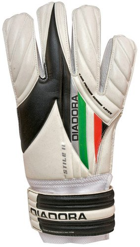 Diadora Soccer 861013-10 Stile II Junior Goal Keeper Gloves, (America Fabric Ball)
