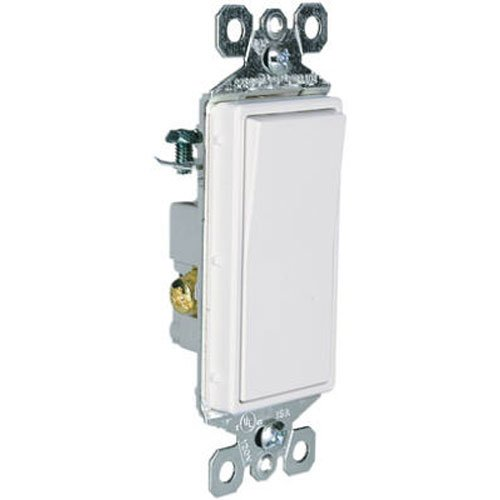 Legrand - Pass & Seymour TM873WCC10 3-Way 115 Amp 120/27-Volt Decorator Switch, White (White Switch 15a)
