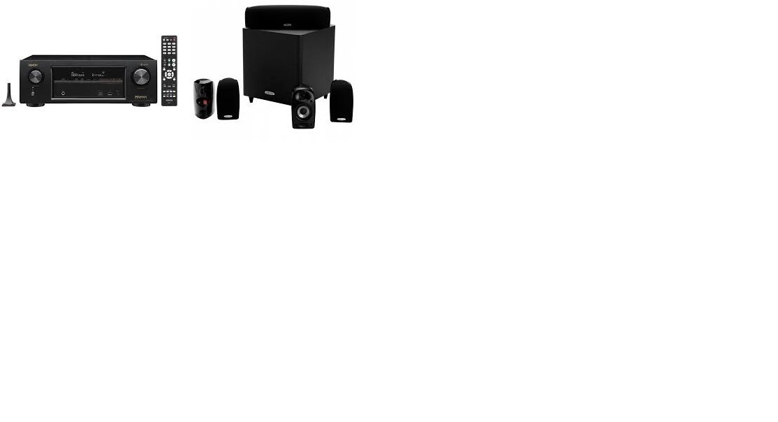Polk Audio TL1600 5.1 Compact Home Theater System with Powered Subwoofer (Renewed) by Polk Audio