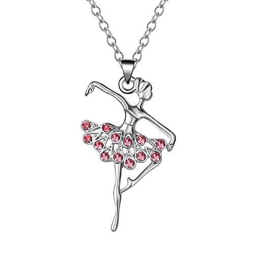(KAVNAR Little Girl Necklace Dancer Ballet Recital Gift Ballerina Dance Necklaces Girls Jewelry ...)