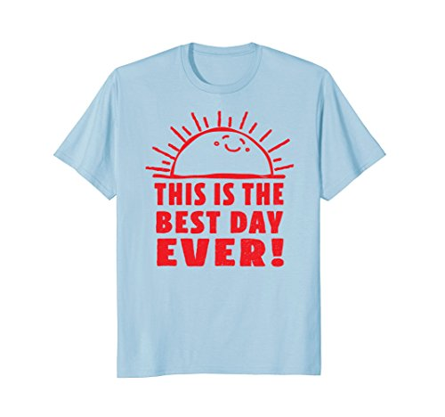 Funny Shirt This Is The Best Day Ever Happy Sunshine Retro (T-shirt Ray Yellow)