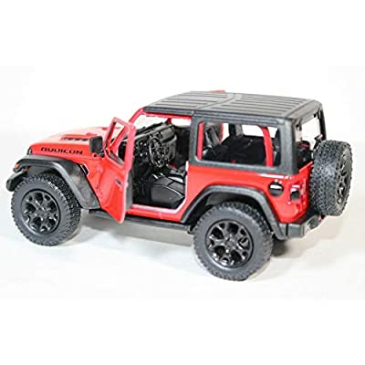 2020 Jeep Wrangler Rubicon Hard Top Red - Kinsmart P/B: Toys & Games