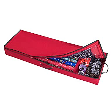 Elf Stor Premium Christmas Wrapping Paper, Ribbon and Bow Storage Organizer