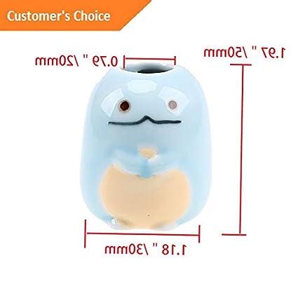 Amazon.com: Hebel 4 Color Mini Ceramic Bathroom Toothbrush ...
