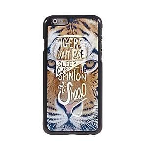 MOFY- estuche r'gido tigre patr—n de la cara de aluminio para el iphone 6