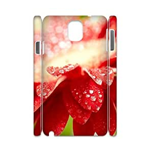 3D Samsung Galaxy Note 3 Cases Amazing Red Flower, - [White] Dustin