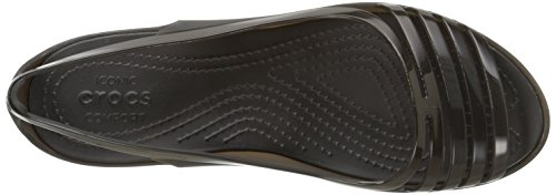 clearance the cheapest discount pictures Crocs Women's Isabella Huarache Flat Jelly Sandal Black cheap authentic under $60 cheap price best for sale oDOh71p