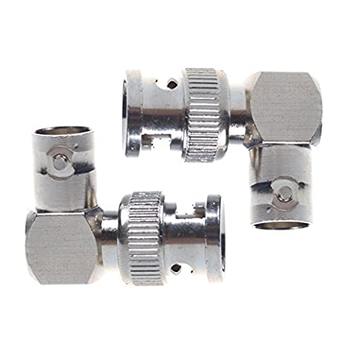 Generic 2 PCS BNC Male Plug to Female Right Angle 90 Degree RF Radio Adapter Connector - Right Angle Bnc
