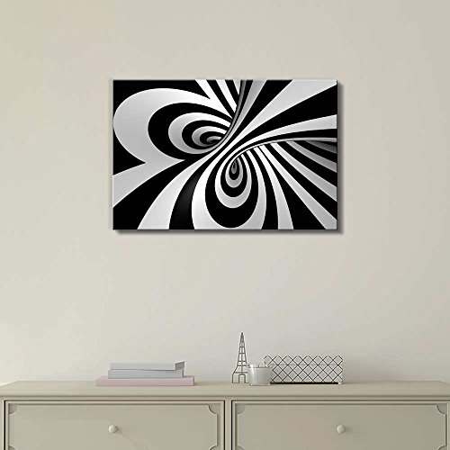 Abstract Black and White Spiral Wall Decor